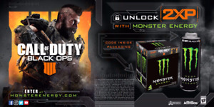 Four Call of Duty in game calling cards