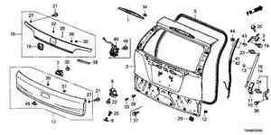 2012-2014 HONDA CR-V TAILGATE GARNISH