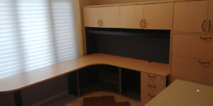 Office desk with 5 drawer filing cabinet