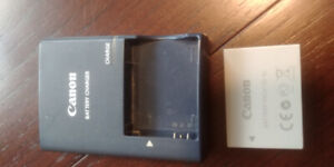 CANON BATTERY PACK NB-5L PLUS BATTERY CHARGER CB-2LX - $25