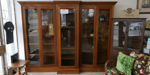 Stunning Antique Double Wing Bookcase