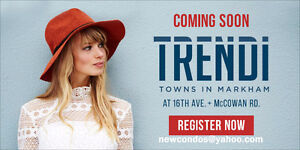 Trendi Towns, Treasure Hill new townhome, Official registration