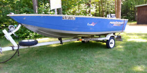 Boat, motor and trailor for sale