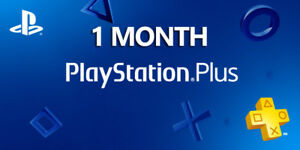 1 Month PlayStation PS Plus PS4-PS3 -Vita ( NO CODE )