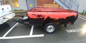Cool retro Datsun 1/4 ton trailer