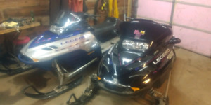 2 2002 800 legends ski-doo