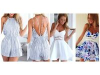 Summer dress and playsuit bundle - size small (8) brand new