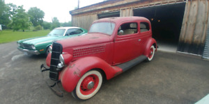 "1935 Ford 2 Door Slant Back""20 Year Garage Find"""