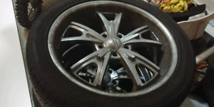 20 inch american racing rims and tires for sale need gone asap