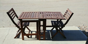 Patio or basement suite dining table for 2