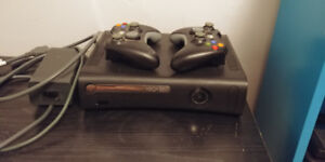 Xbox 360 with Controllers