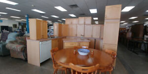 Kitchen Cabinet Set with Countertops, Island, and more!