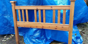 Solid Wood Double Sized Headboard  Excellent condition