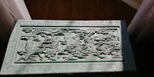 Chinese Oriental camphor hand-carved wood chest
