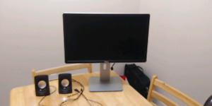 """22"""" Dell monitor and ONN speakers"""