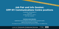 JOB FAIR & Info Session: OPP 911 Communications Centre positions