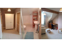 Large, sunny double room with ensuite shower room