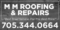 In Need Of A New Steel Roof? Call Today! MM Roofing & Repairs