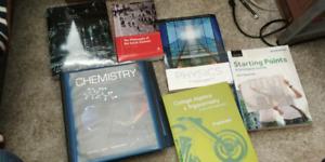 Chemistry, Calculus, Math, Physics, Sociology