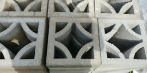 Cement screen blocks