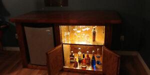 Handmade oak bar