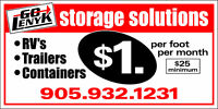 $1/ft Outdoor Storage: Campers, Trailers, RVs, Vehicles etc