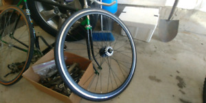 Flip-flop road bike tire and wheel
