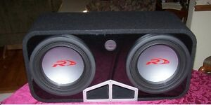 "PAIR OF 12"" ALPINE TYPE R SUBWOOFERS IN A PORTED BOX 4 SALE MINT"