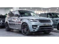 "NEW 22"" GENUINE RANGE ROVER STYLE 17 BLACK STEALTH EDTN ALLOY WHEELS & NEW CONTINENTAL TYRES"