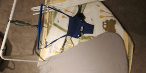 Baby items- Jolly jumper, sleep sack and bedding