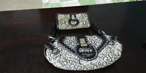Guess purse and wallet set