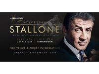An Experience with SYLVESTER STALLONE (London) 2 Tickets: Table 154 - Seat 1 & Table 151 - Seat 9