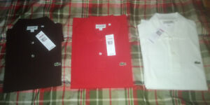 NEW POLO shirts, LACOSTE and Fred Perry