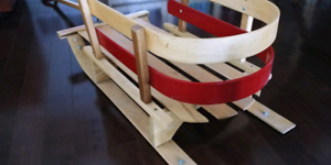 Home Hardware wood snow sled with handle