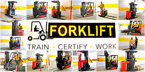 Forklift Training + Certificate (Licence) + Jobs - NOW 30%off