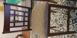 2 solid wood bar chairs
