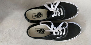 Black Vans Authentic Shoes (Size 6 Women)