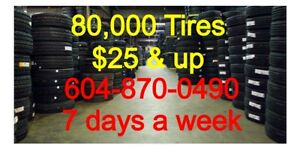265/70R17 tire sell off $25 each & up