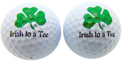 Irish To A Tee SET OF 2 Novelty Golf Ball Fun Golfing Golfer Gift Pack