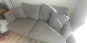 Apartment-sized Grey Couch for sale!