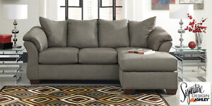 Brand NEW Darcy Cobblestone Sectional! Call 613-389-6664!