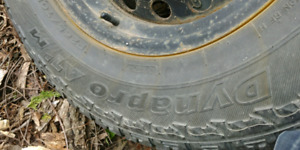 265/70/17 Hankook dynapro atm 17 tires on 6 both chevy/gm truck