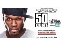 2x Standing Tickets for 50 Cent - Get Rich or Die Tryin 15th Anniversary - Manchester