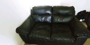 Leather love seat like new