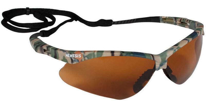 Jackson Nemesis V30 Safety Glasses/Sunglasses Various Colors & Quantities  19644 - Camo Frame/Bronze Lens
