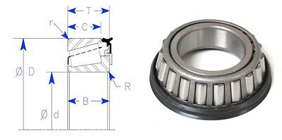 Enduro Brand Tapered Sealed Roller Bearing Set Timken Lm11900la Lm11910 Set 88