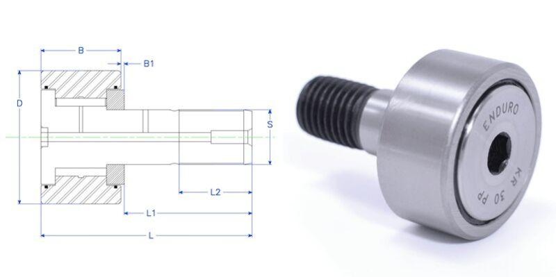 Enduro KR 22 PP  CF 10 BUU MCFR-22-S  KR 22 LL cam follower roller bearing INA