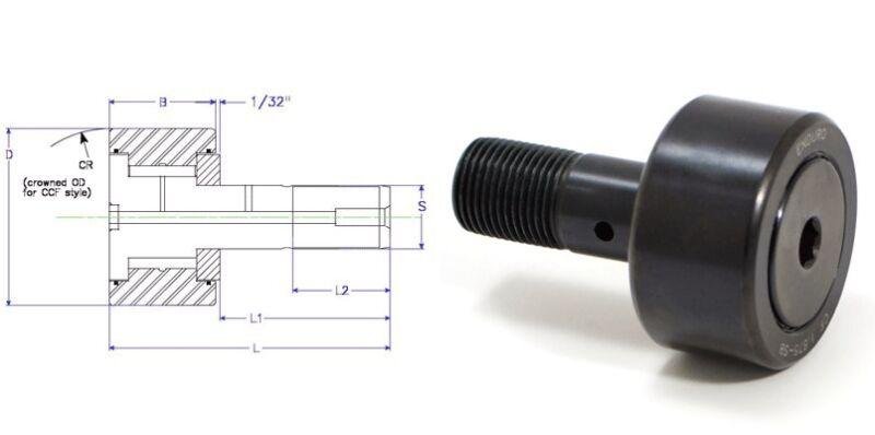 CF 2.25-SB cam follower bearing Quality Enduro,  McGill carter roller CF214SB
