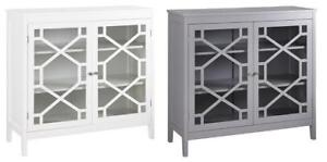 Fetti Modern Large Cabinet - White or Gray - Model #: BYCA6546