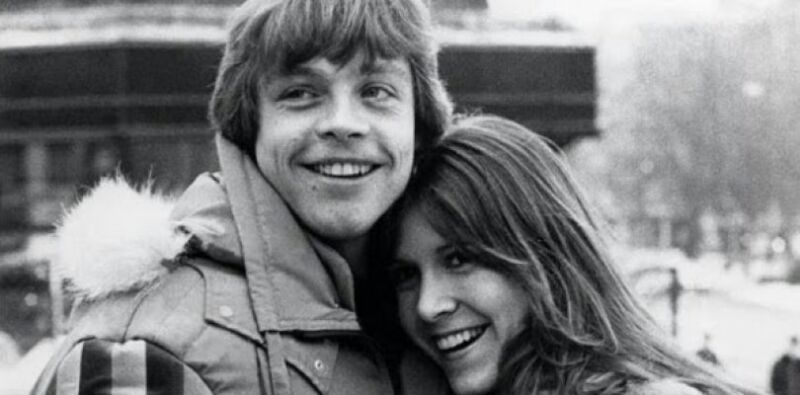 Mark Hamill And Carrie Fisher Happy Smile 8x10 Photo Print